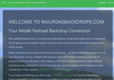 RailRoad Backdrops
