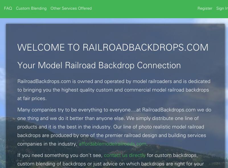 RailRoad Backdrops